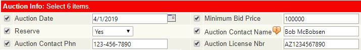 screenshot of flexmls auction field