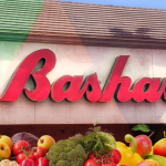 Bashas logo with fruit underneath