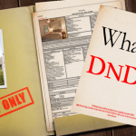 "Image of a file folder with a plano inside, stamped with AGENT ONLY and a blurb saying ""What is DND2?"""