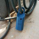 Lockbox on a hose, bad placement