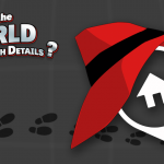 """""""Where in the world is the Search Details"""" title with Carmen Sandiego Hat on a Flexmls Logo"""