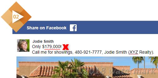 Facebook post of another agent's listing. Post references listing price which is subject to change.