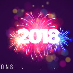 Exploding Firework with 2018 text over it