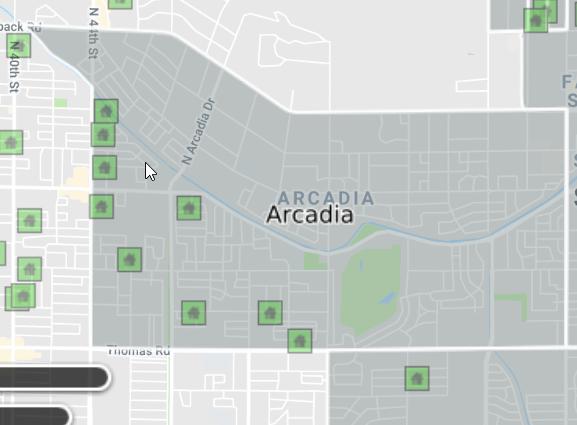 arcadia shown in neighborhood overlay