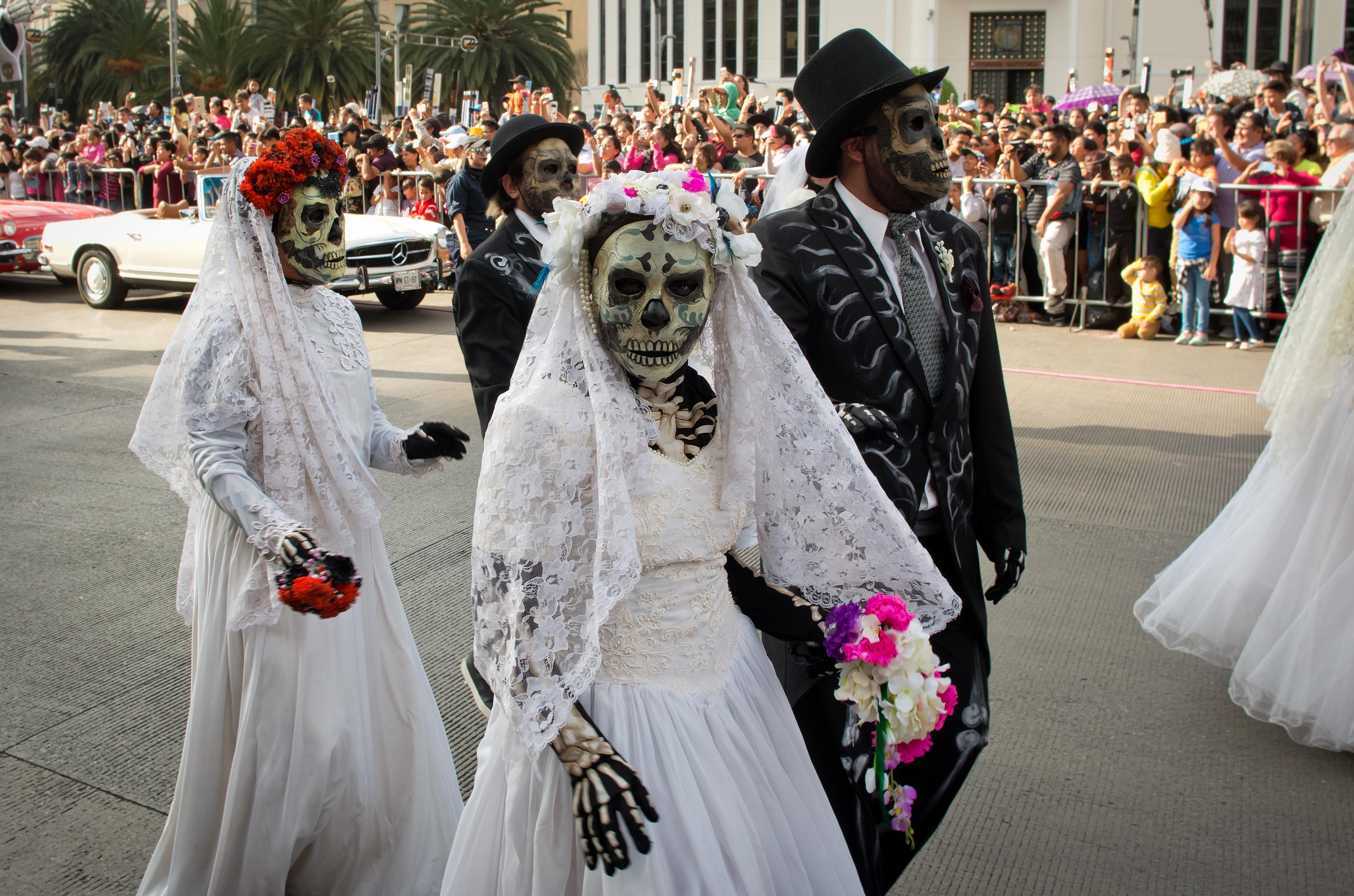 Dia de los Muertos parade in Mexico City