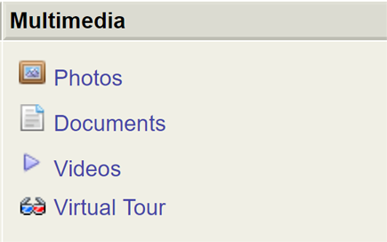 screenshot of Multimedia tab in Flexmls