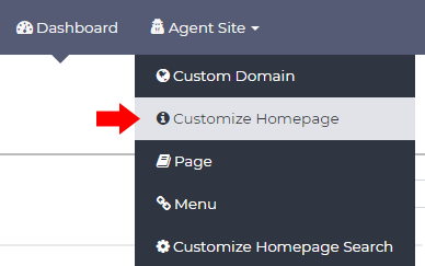 Customize AgentSquared Site Menu