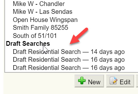 Screenshot Draft Searches