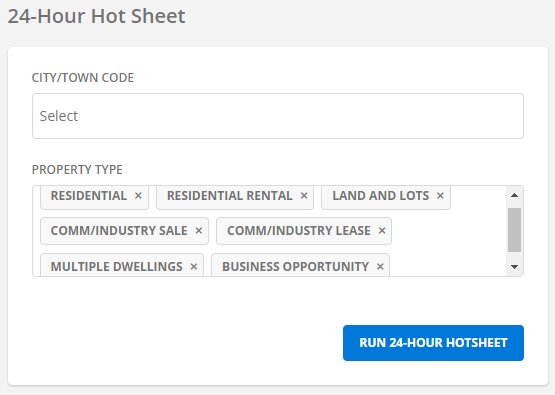 Screenshot of Flexmls hot sheet option