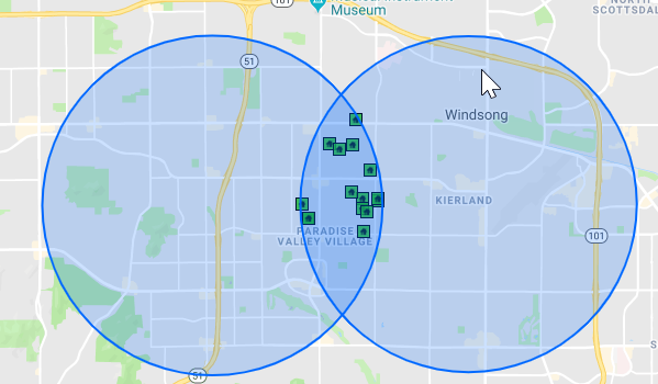 Flexmls map search intersection