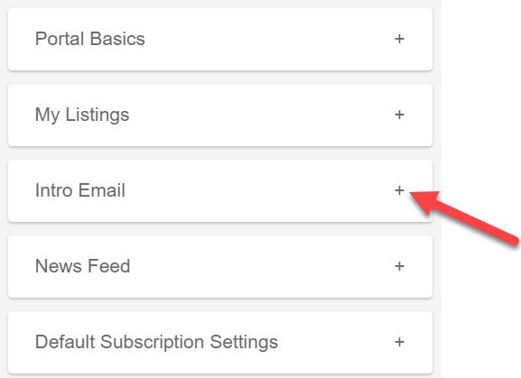 Portal preferences menu