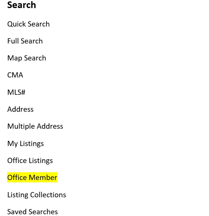 screenshot of office member field in Flexmls