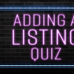 Adding a Listing quiz in neon