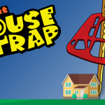 vector house with mouse trap over it