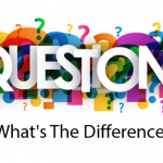 Multicolored and different sized question marks with questions text overlay