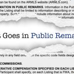 Screenshot of ARMLS Public Remarks