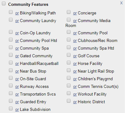 screenshot of community features screen in flexmls