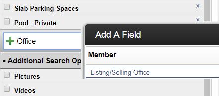 screen shot of search field in Flexmls