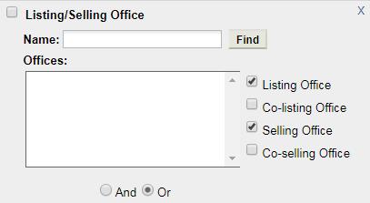 office member search field in flexmls
