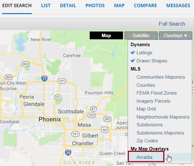 screen shot of flexmls map overlays