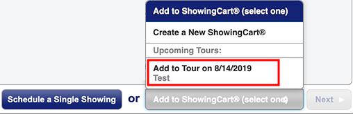 Screenshot of the Tour Selection Screen