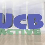 UCB pushing down on the word Active