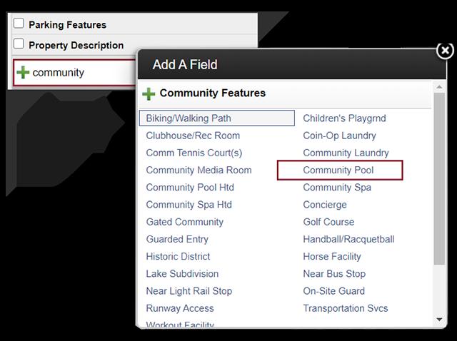screenshot of adding community pool