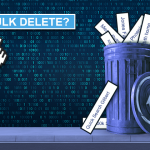 "Trashcan with various searches and the text ""Bulk Delete?"""