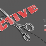"Scissors cutting the word ""Active"""