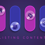 Icons representing Listing Content Options