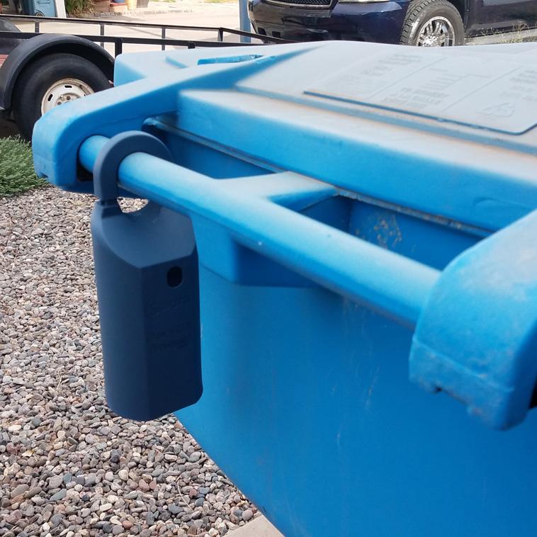 Lockbox on a trashcan