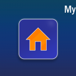 MyHome app icon on a blue background