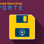 "Vector Save Icon with ""Saved Searches Update"" title"