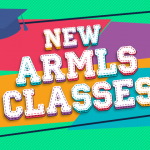 """New ARMLS Classes!"" over a colorful background"