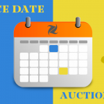 Calendar with the words Notice Date and Auction Date