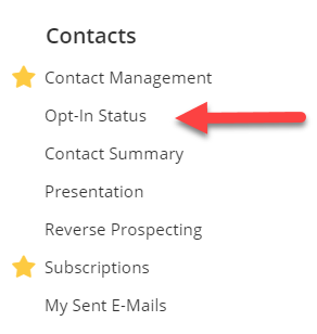 Contact Management section in Flexmls menu