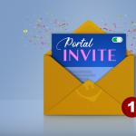 Vector Letter with a Portal Invitation