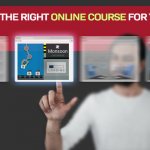 Man choosing an online course