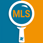 "Vector magnifying search glass with ""MLS"" in the middle"