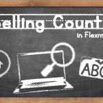 Chalkboard that says Spelling Counts in Flexmls!