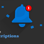 "Vector Notification Bell with title ""Self Service Subscriptions"""