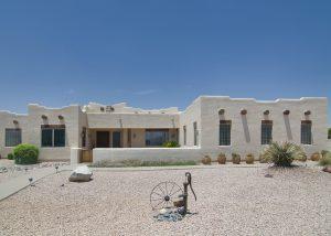 Territorial/ Santa Fe style house