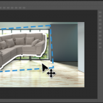 Couch being photoshopped into scene