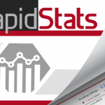 Graphic of RapidStats logo and sample report.