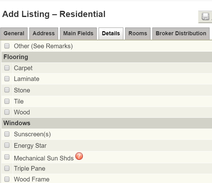 Screenshot of Adding a Listing in Flexmls