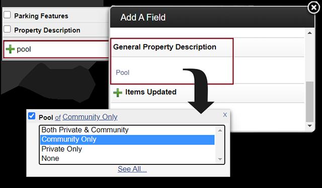 Screenshot of adding a General property pool