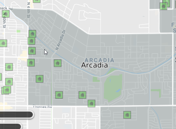 arcadia shown in neighborhood overlay