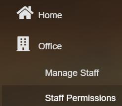 Screenshot of Staff Permissions in Atlas