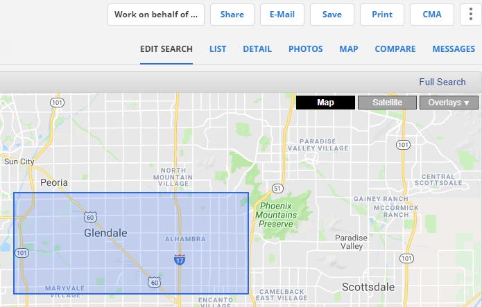 Shape drawn on Flexmls map