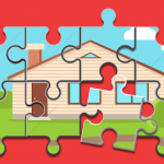 Puzzle of a house